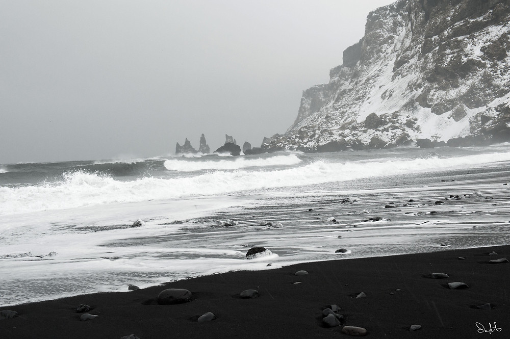 Black Sand Beach, Vik, Iceland, Stacks