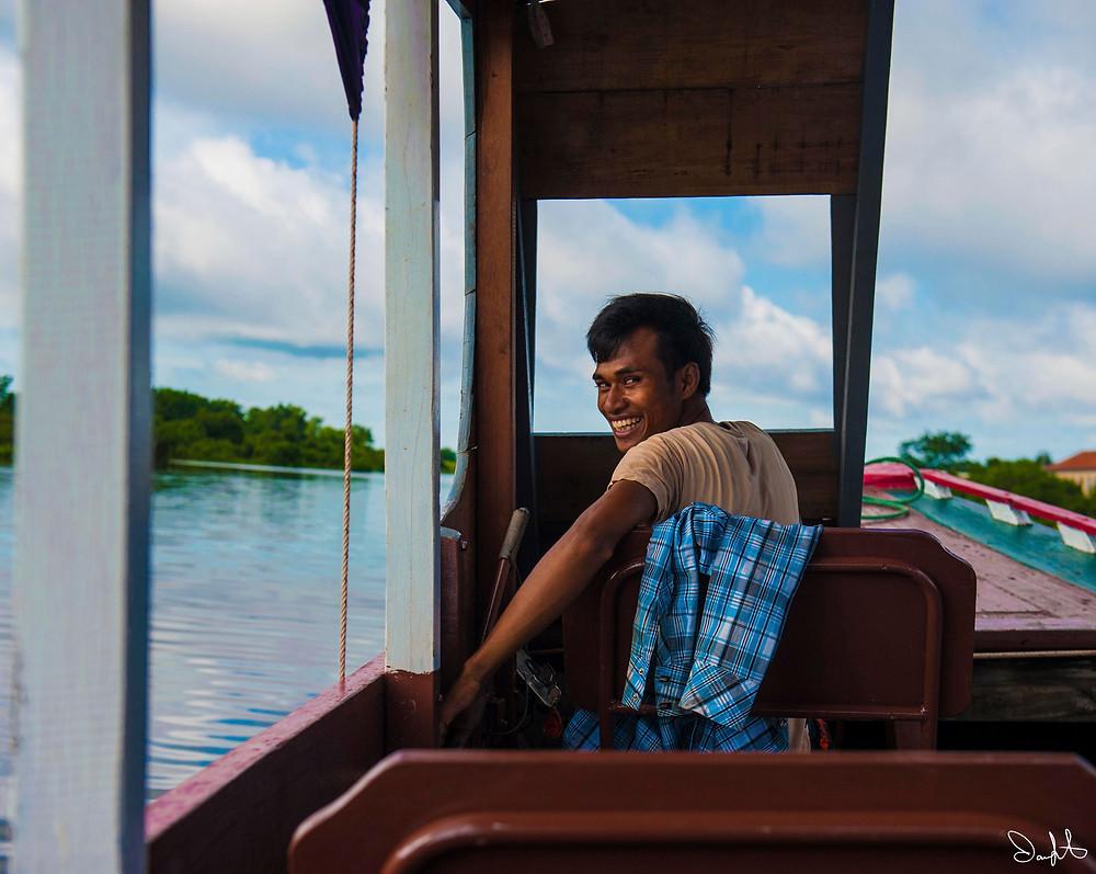 Boatman, Tonle Sap Lake, Cambodia
