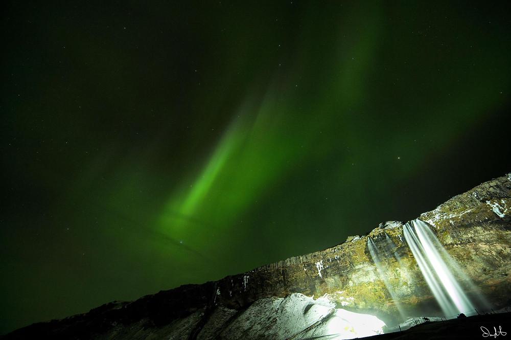 Seljalandsfoss Aurora 2, Iceland