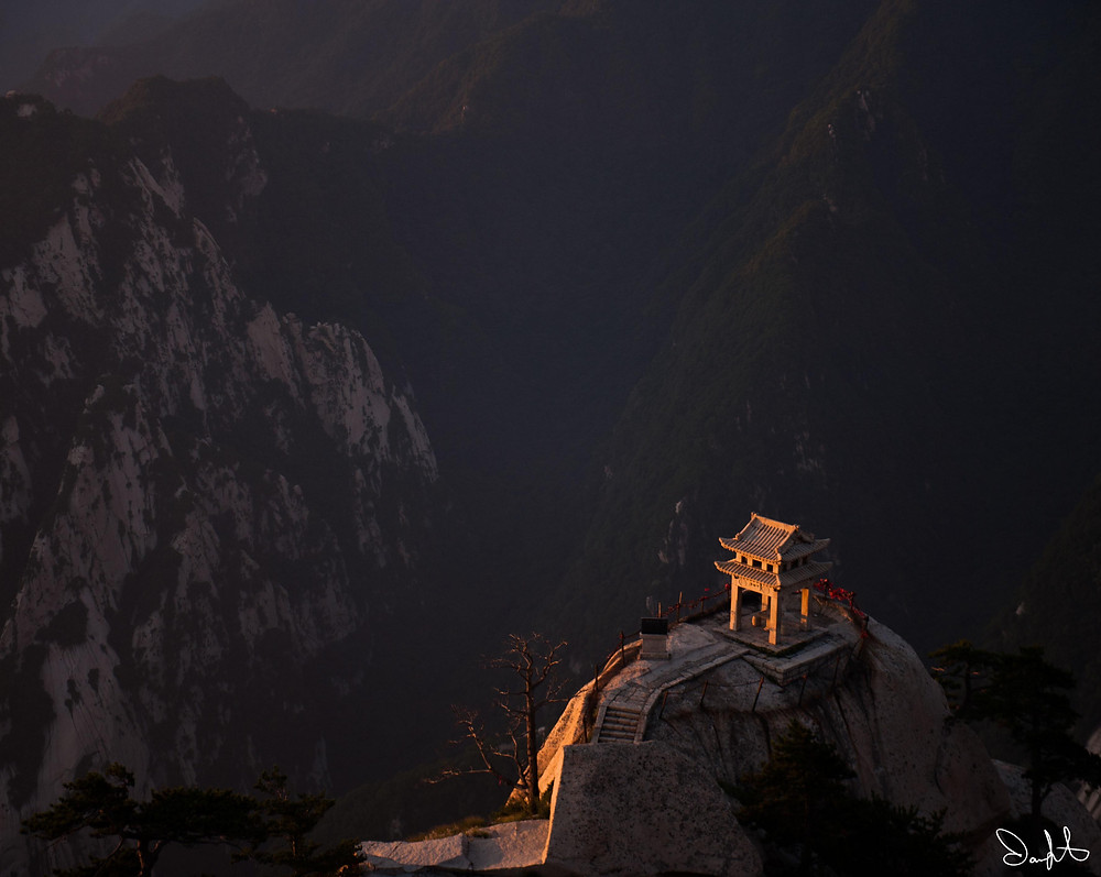 Huashan Shrine at Sunrise