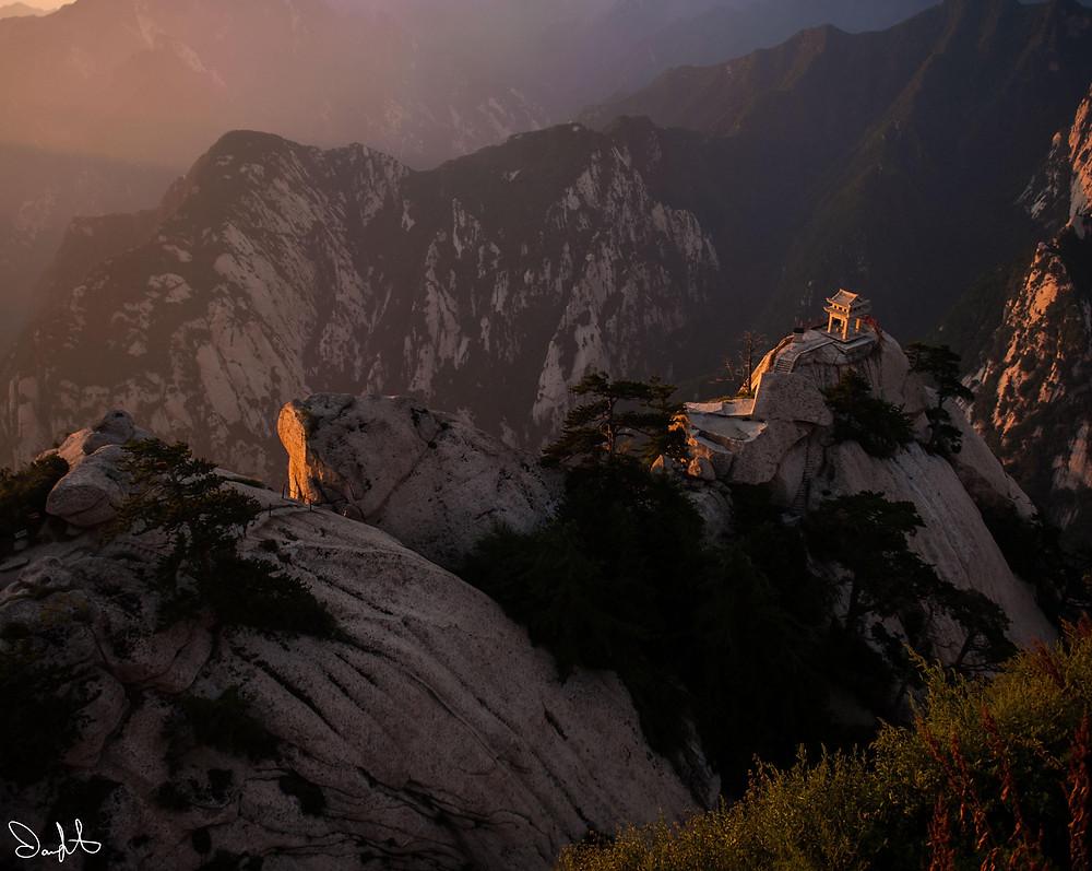 Huashan Sunrise with Shrine