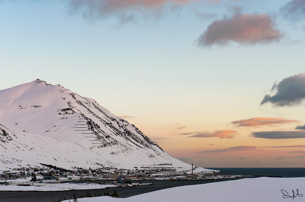Sunrise at Siglufjordur, Iceland