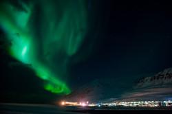 Aurora over Ólafsfjörður