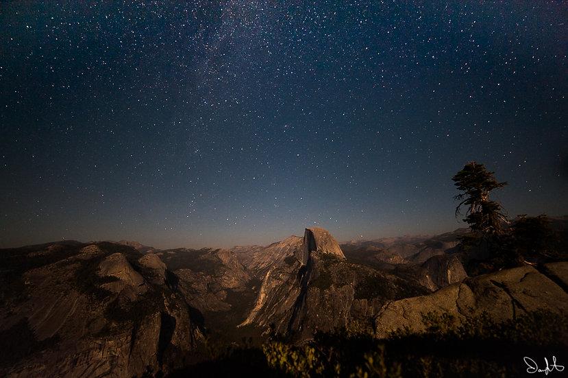 Half Dome with Stars 2