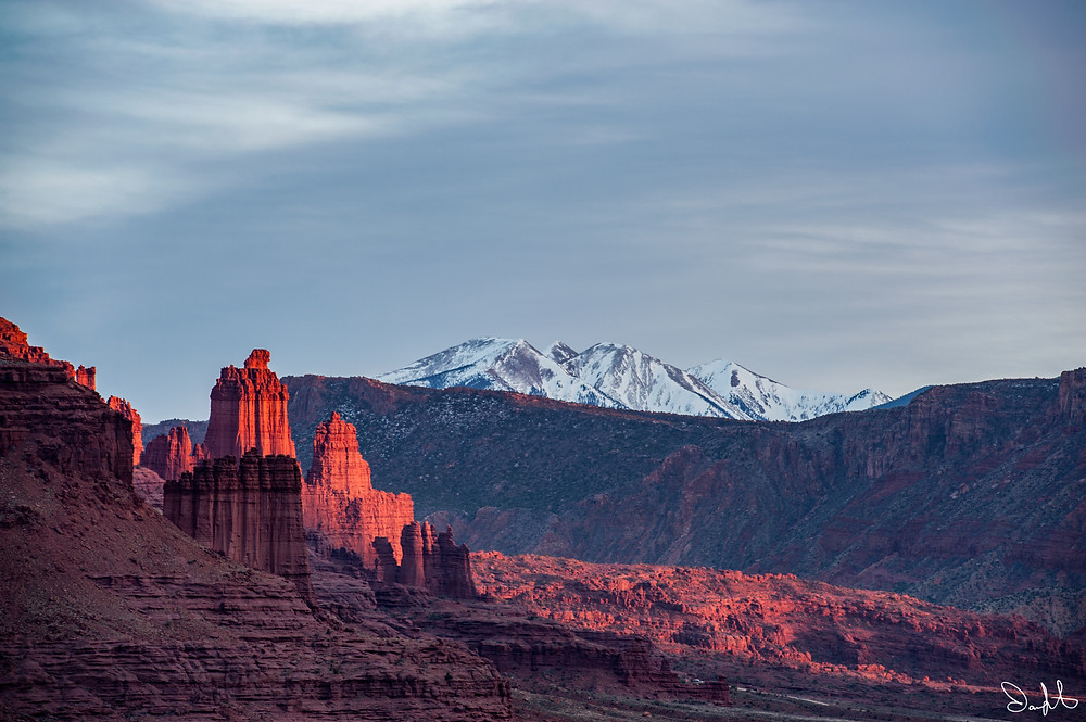 Fisher Towers, La Sal Mountains, Moab, Utah
