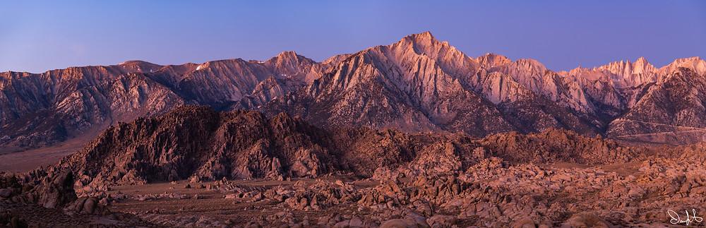 Lone Pine Peak with Mount Whitney
