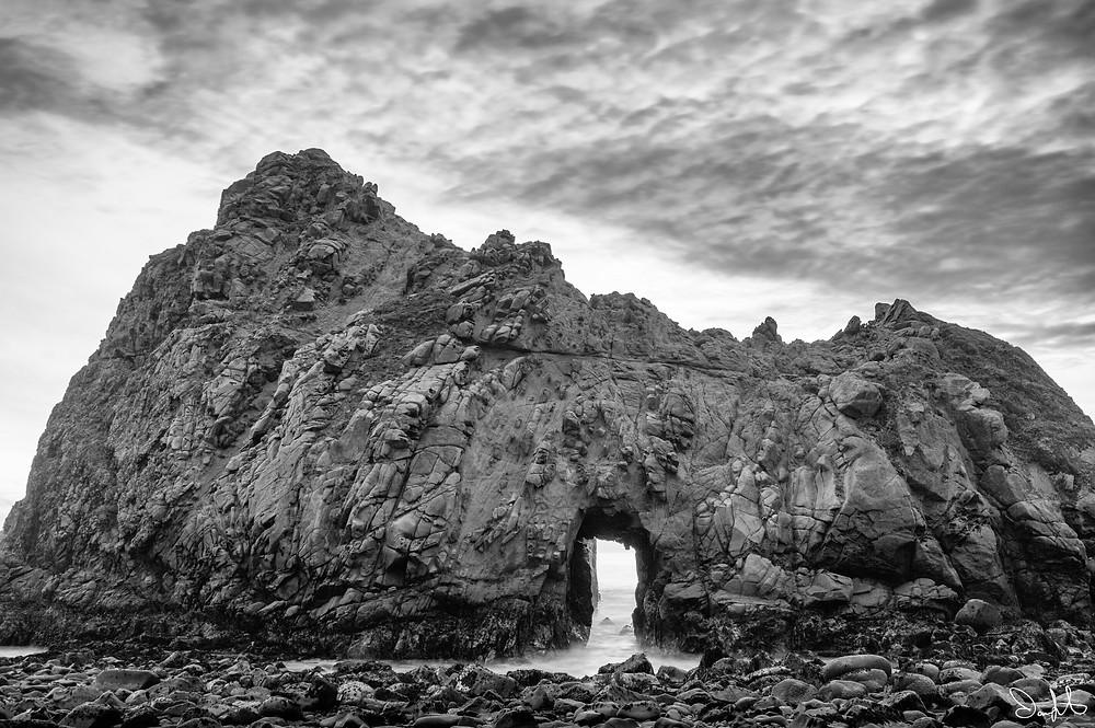 Pfeiffer State Beach, Keyhole Arch, Big Sur, California
