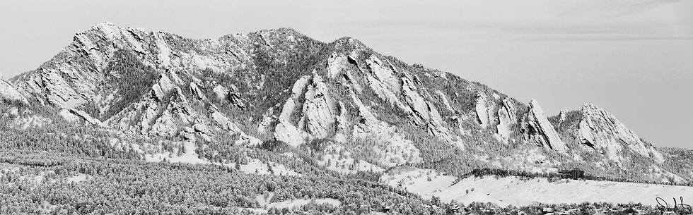 Boulder Front Range in Winter
