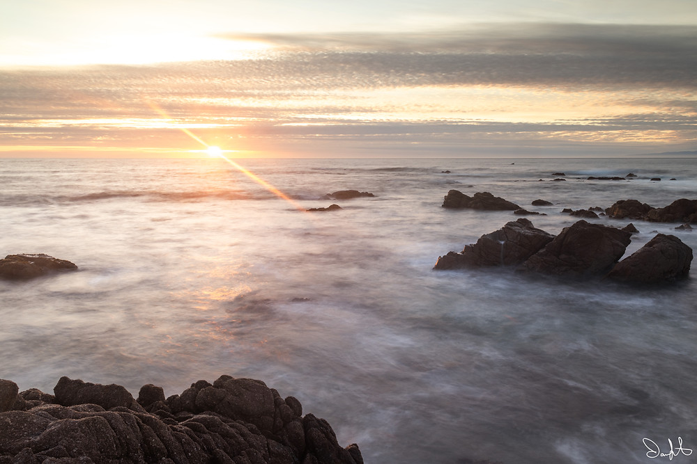 sunburst over ocean