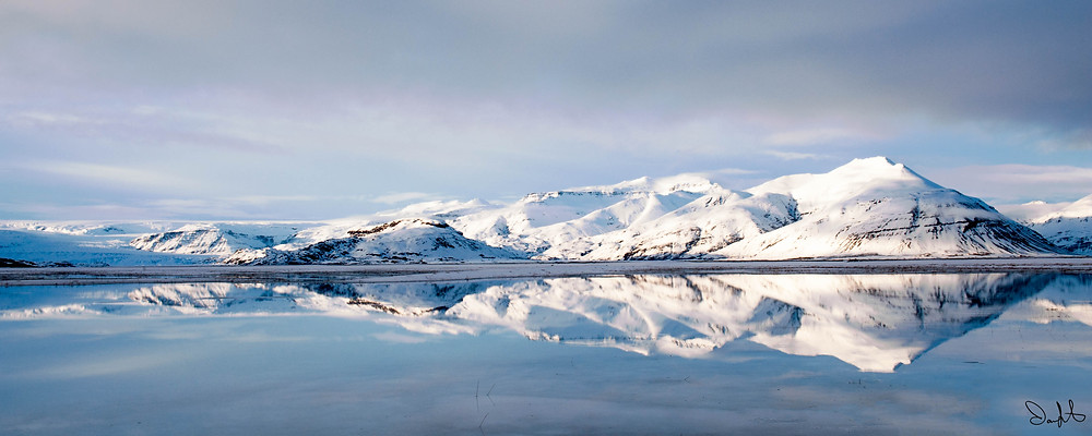 Iceland Landscape with Reflection, southeast