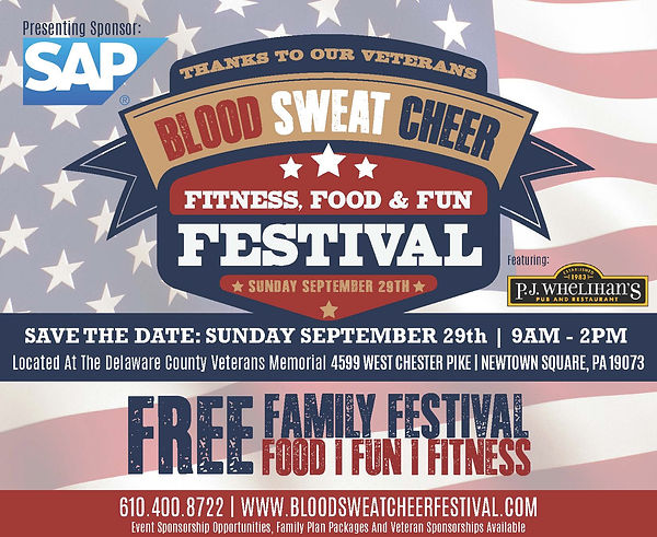 Blood Sweat Cheer Event | Delco Veterans Memorial