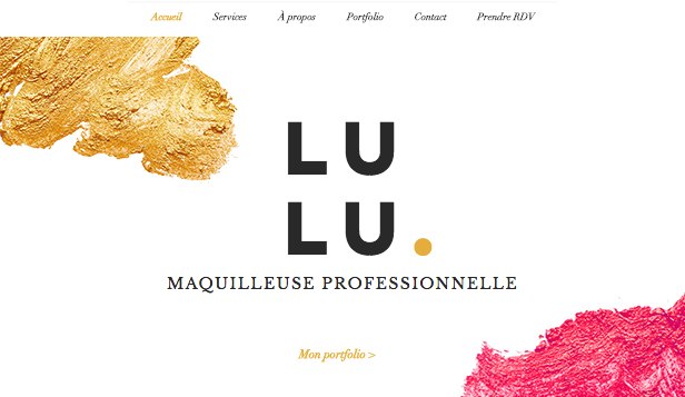 Populaires website templates – Maquilleuse pro