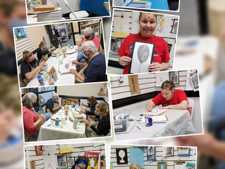 Yesterdays Pics from our Kids and Adult Classes..Drawing, Color Pencil, Paint your own Ceramics....