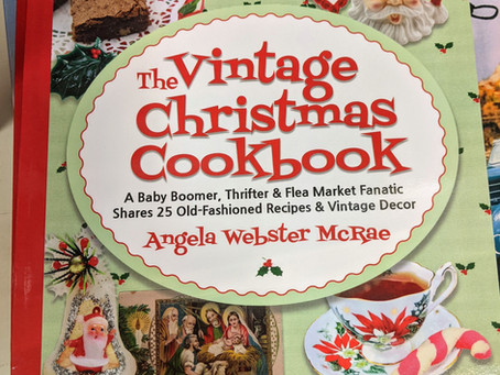 Angela McRae's Vintage Christmas Cookbook is a great addition to our Corner Arts Gallery Book Nook