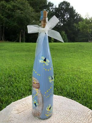 Painting Lightning Bugs on a Bottle