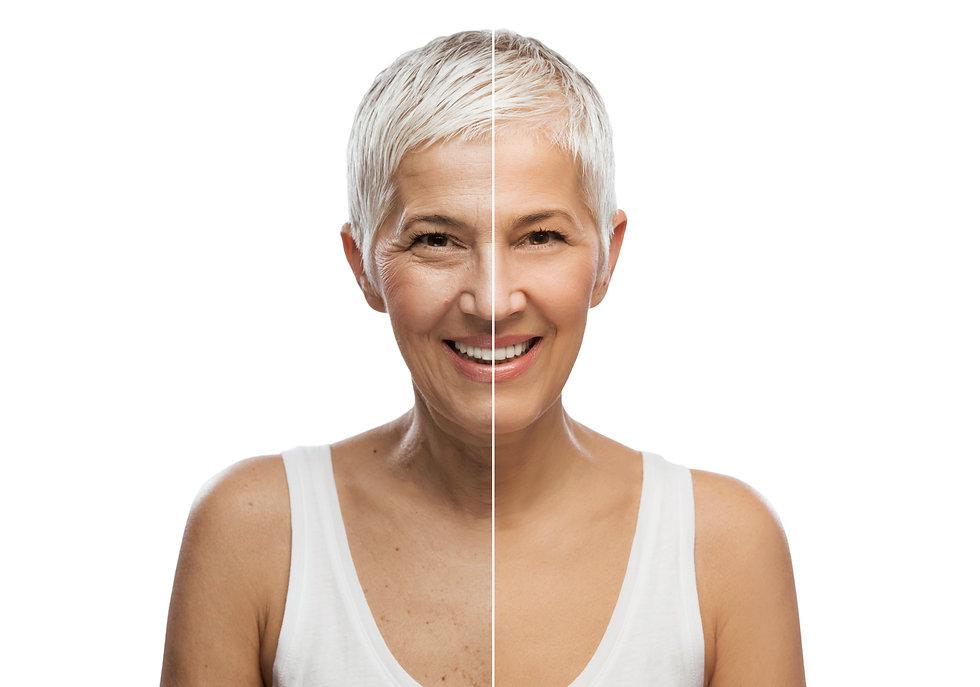 Portrait of a beautiful elderly woman, a