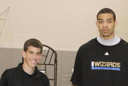 Coach Rieder and Javale Mcgee