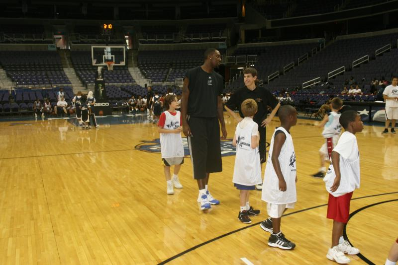 Coach Rieder and Andray Blatche