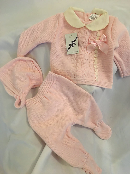 Fruit de ma passion 3 piece knitted baby set