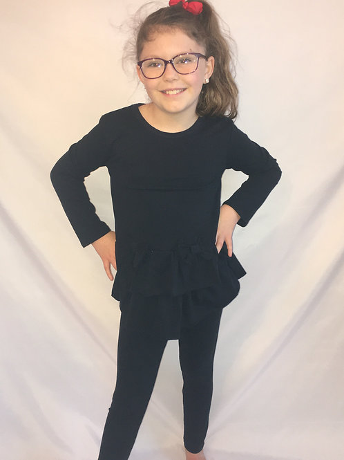 Frill and bow detail loungewear