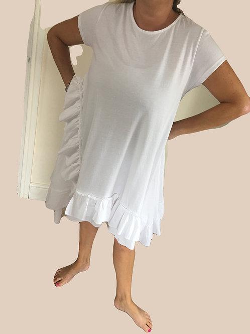 Short sleeved frill dress