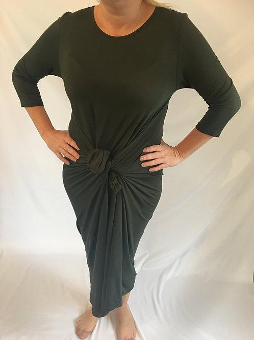 Khaki long sleeve parachute dress