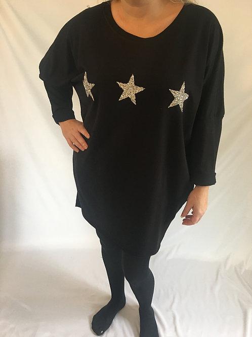 Glitter oversized star sweatshirt
