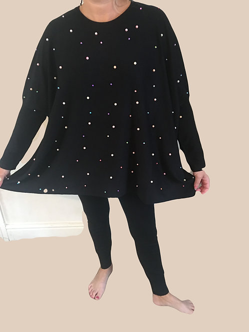 Pearl oversized Batwing jumper and leggings