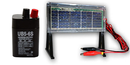 KIT PLACA SOLAR 6 V + BATERIA RECARGABLE COMEDERO