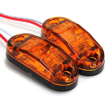 Luz de posición led naranja sumergible Homolog CE