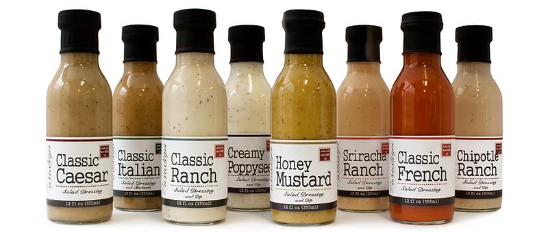 Ranch Dressing, Salad Dressing, Honey Mustard Dressng, Italian Drssing, Poppyseed Dressing