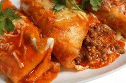 Enchiladas with  Salsa Enchilada