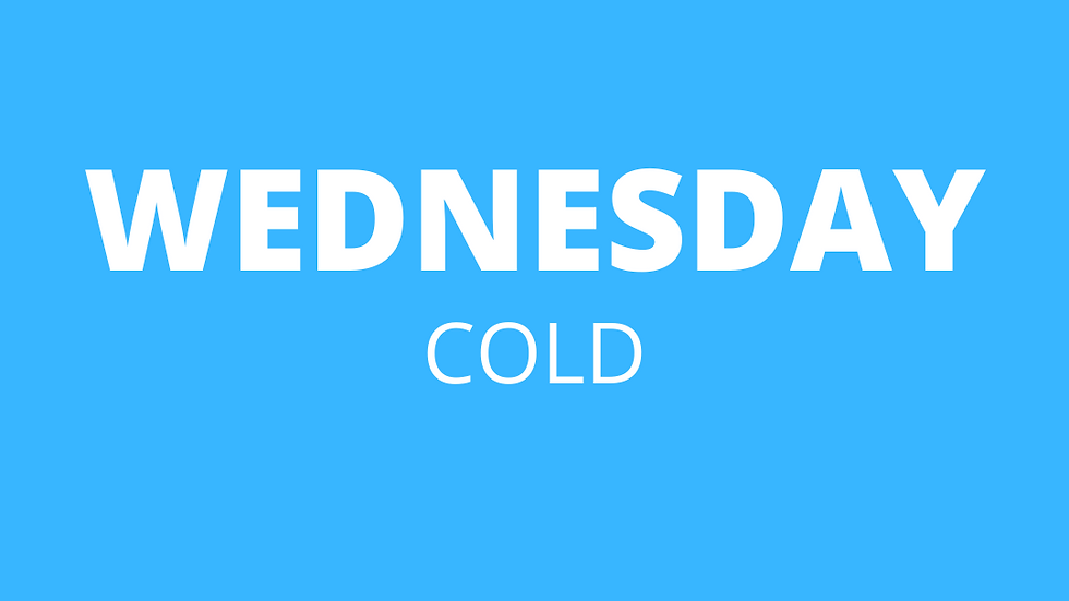 Wednesday | Cold
