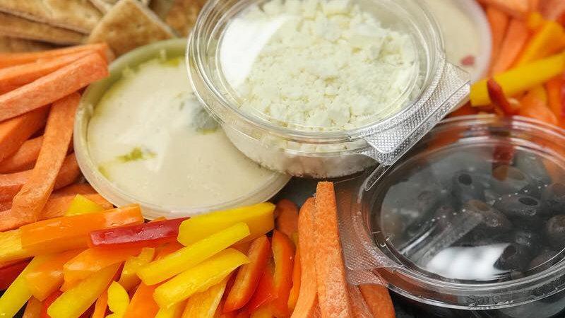 Mediterranean Vegetables + Hummus