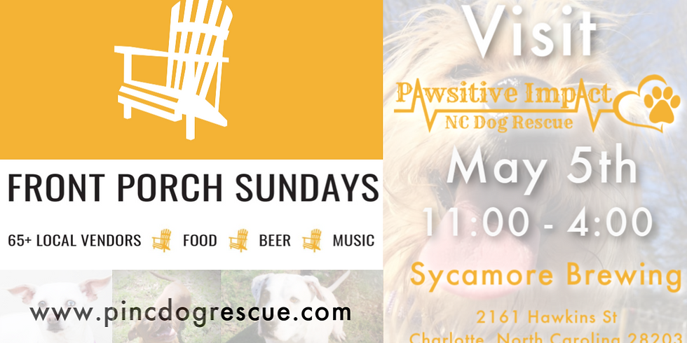 Front Porch Sunday with Pawsitive Impact NC Dog Rescue