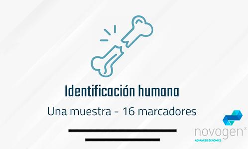 Identificación humana: Una muestra
