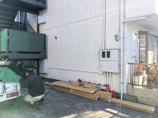 サイクルポート設置工事