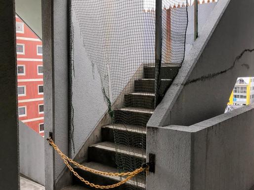 マンションの屋上出入り口ドア設置