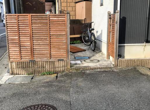 台風でフェンスが壊れた!