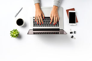 Female hands working on modern laptop. O