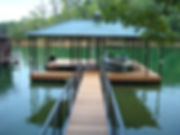 Hip Style Roof Covered Boat Dock