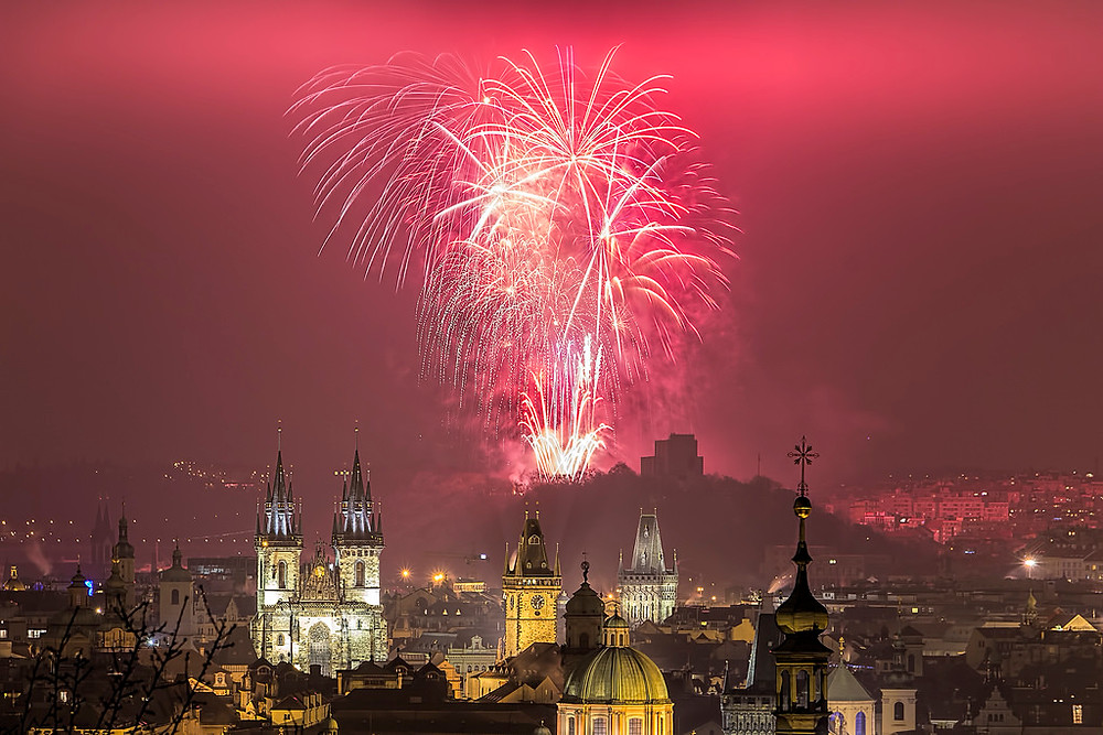 New Year Prague