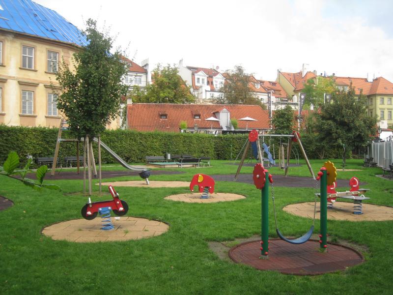 playground by the Charles Bridge