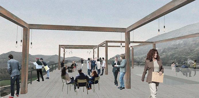 Proposta para o terraço - concurso Green Academy