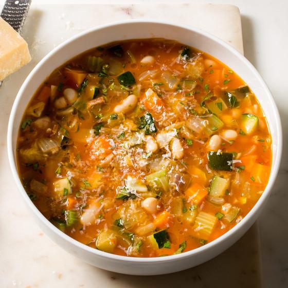 Italian Bean, Pasta & Vegetable Soup