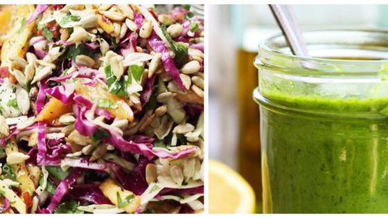 Nectarine Salad & Basil Dressing