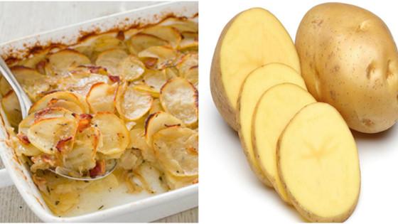 Prepare-Ahead Potato & Onion Bake