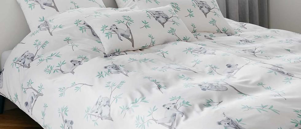Elegante Bettwäsche Lazy Koalas - weiß
