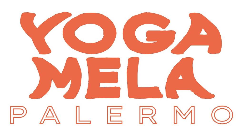 logo del fectival yoga mela en palermo