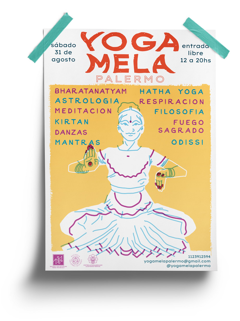 poster festival yoga mela palermo